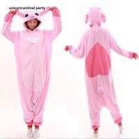 Kigurumi Onesies Cartoon Adult Cosplay Pyjamas Costume Pink Sleepwear Pajamas Party Clothing For Women Man Halloween hoodies