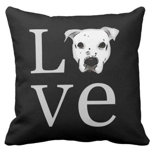 Nero Pitbull Federa Pit Bull Love Throw Pillow Caso Americano