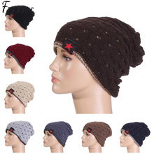 El nuevo capó Estrella Roja sombrero de invierno beanie hombre skullies  gorros de lana de punto los sombreros del invierno Hip H.. 1f7f25e2965