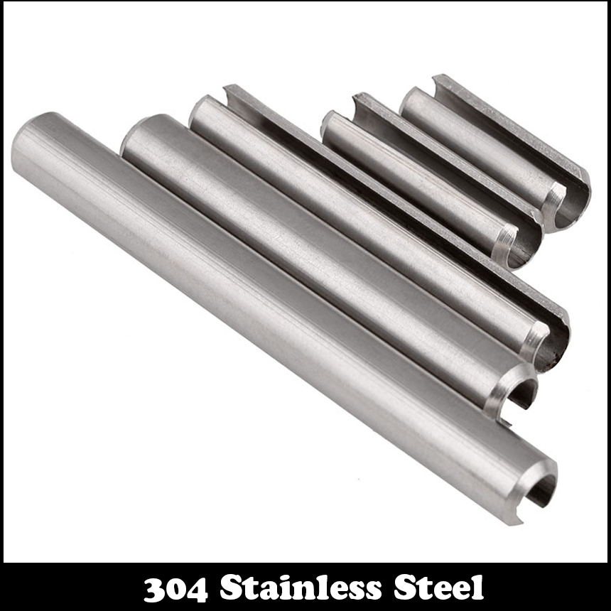 M8*16 M8x16 M8*20 M8x20 M8*25 M8x25 304 Stainless Steel DIN1481 Parallel Dowel Split Elastic Cylinder Cotter Slotted Spring Pin|slotted spring pin|elastic pin|stainless steel cotter pin - title=
