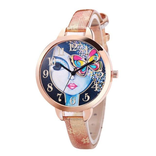 Watches Women Fashion Butterfly bracelet Watch Sport Analog Quartz Wrist Watch t