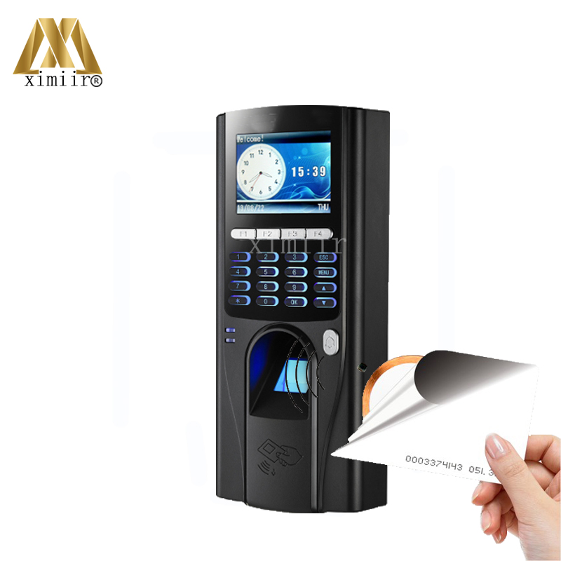 TCP/IP Biometric Fingerprint Time Attendance And Door Access Control System Fingerprint And RFID Card Reader Access Controller outdoor mf 13 56mhz weigand 26 door access control rfid card reader with two led lights