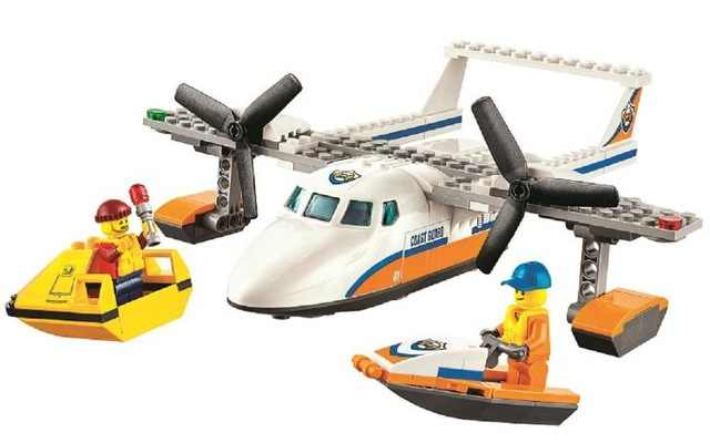 New City Series Sea Rescue Plane Aircraft Building Block Brick Toys DIY Educational Toys 60164 Compatible with Lego Best Gift