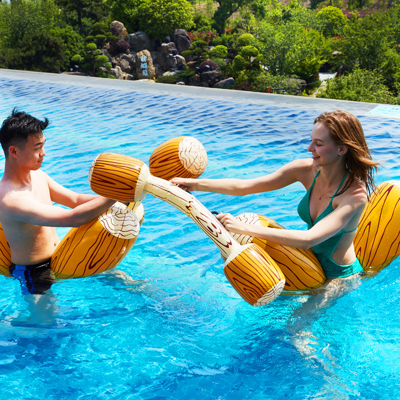 2Pcs/set Pool Inflatable Buoy Floating Float Game Bumper Gladiator Raft Water Swimming Toys