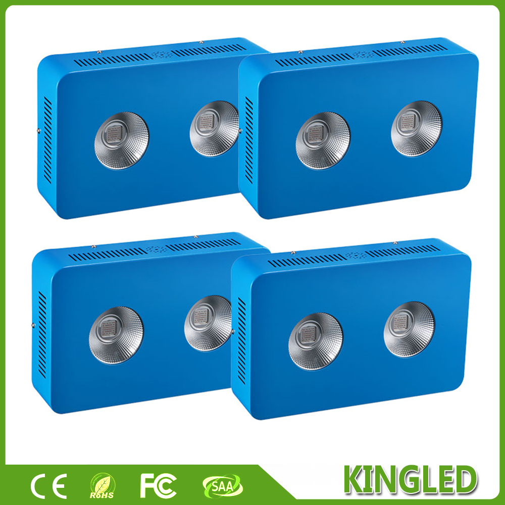 цены  4pcs KingLED 400W COB LED Grow Light Full Spectrum 410-730nm For Indoor Plants and Flower Phrase Very High Yield