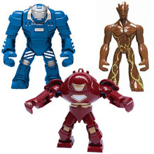 Single Sale Super Heroes iron Man Soldier Figures Building Block Brick Toys For Children