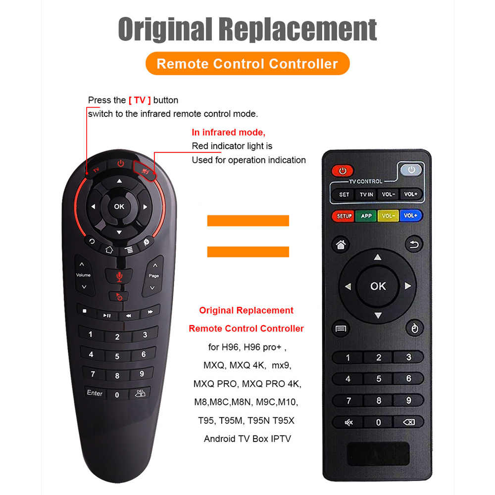G30S Voice Air Mouse Universele Afstandsbediening 33 Toetsen Ir Leren Gyro Sensing Wireless Smart Remote Voor Android Tv Box x96 Mini
