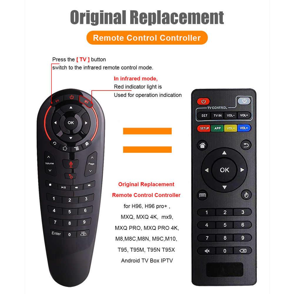 G30S ratón de voz Air control remoto universal 33 teclas IR learning Gyro Sensing control remoto inalámbrico inteligente para android tv box X96 mini
