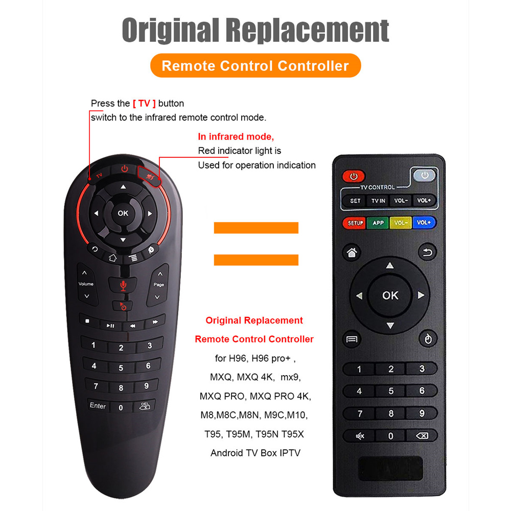 Image 4 - L8star G30 Remote control 2.4G Wireless Voice Air Mouse 33 keys IR learning Gyro Sensing Smart remote for Game android tv boxRemote Controls   - AliExpress