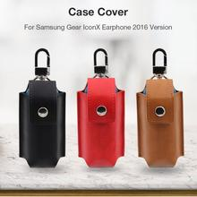 Pu Leather Suitable Protective Case Cover For Samsung Gear Iconx Wireless Bluetooth Earphone Case Anti-fall Dust-proof Pack цена