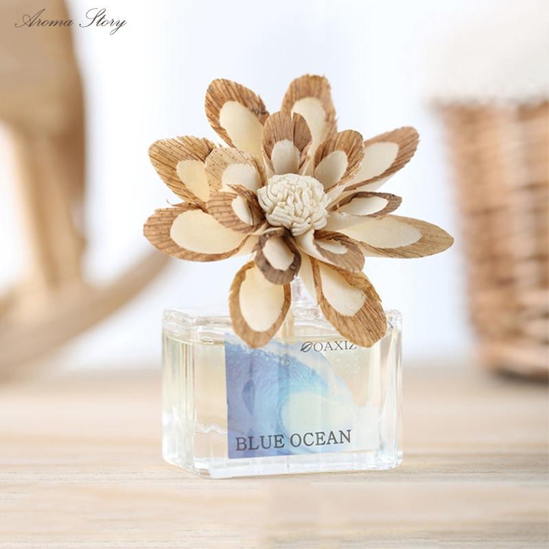 Haus & Garten Lily & Jasmine Kostenloser Versand 35 Ml Frangrance Diffusor Mit Handgemachte Getrocknete Blume Für Dekoration 12,3*5,1*18,5 Cm Ozean