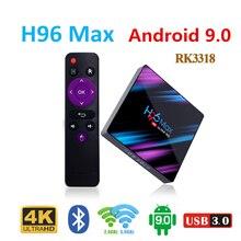 Android 9.0 TV Box Rockchip RK3318 H96 MAX 4 GB RAM 64 USB3.0 1080 P H.265 4K google Speler Winkel Netflix Youtube H96MAX