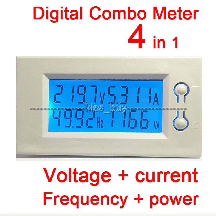 Voltage Frequency Meter : Ac v a lcd voltage current power frequency
