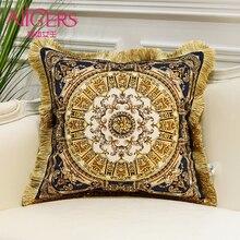 Avigers Роскошная Подушка с принтом и кисточками, бархатная декоративная подушка для дома, Европейский дизайн, Srusader, диван, спальная подушка