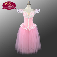 Professional Pink Ballet Tutu Costumes For Girls Ballet Dancing Dress Beautiful Girl Romantic Dress Hot Selling LD0002D