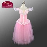 Profesyonel Pembe Bale Tutu Kostümleri Kızlar Için Bale Dans Elbise Güzel Kız Romantik Elbise Sıcak Satış LD0002D