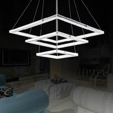 Aliexpress.com : Buy Modern chandelier Square 3 rings ...