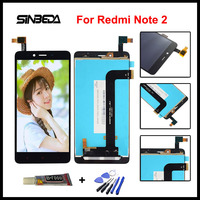 Sinbeda Brand New For Xiaomi Redmi Note 2 LCD Display Touch Screen Digitizer Assembly For Redmi