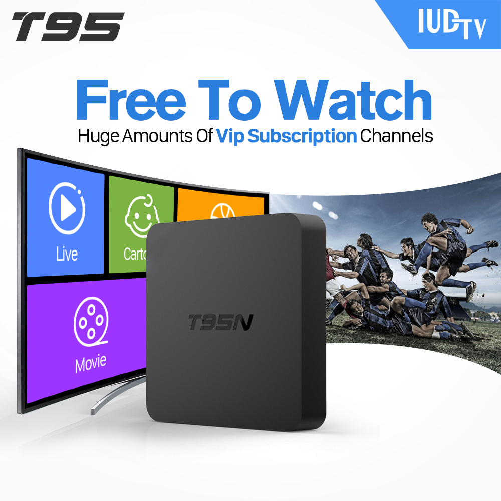 купить 1Year IPTV T95N Set Top Box Italy UK DE European IPTV Box For Spain Portugal Turkish Netherlands Smart TV Box  Shipping недорого