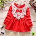 2017 весна new born baby dress мода симпатичные цветочные кружева принцесса младенческой dress девочки dress 4 Цвет Детская одежда