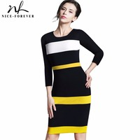 Summer Office Lady Illusion Color Joint Patchwork Fitted Dress Casual O Neck Sleeveless Zip Back Dark