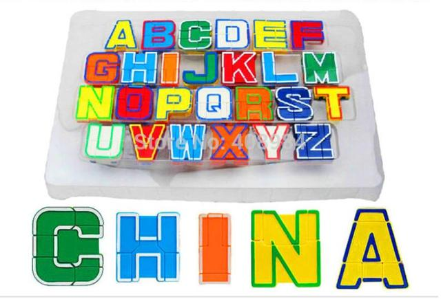26 deformation letter alphabet robots childs early educational toys