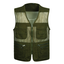 Mesh Multi-Pockets Field Working Men's Vest Plus Size Sleeveless Jackets Journalist Clothing Photographer Waistcoats New Brand