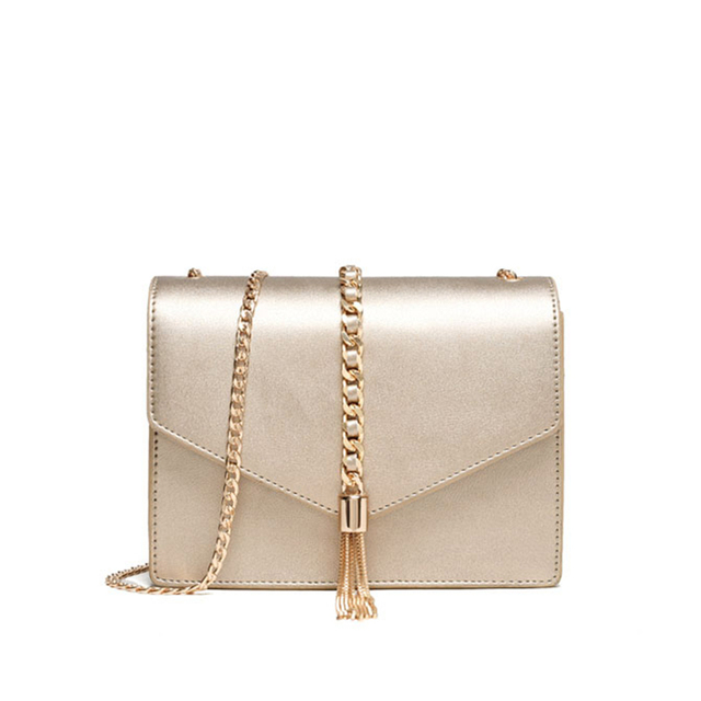 2017 Women Bag Shoulder Fashion Tassel Chain Bag Female Crossbody Bags For Women High Quality Small Gold Party Bags
