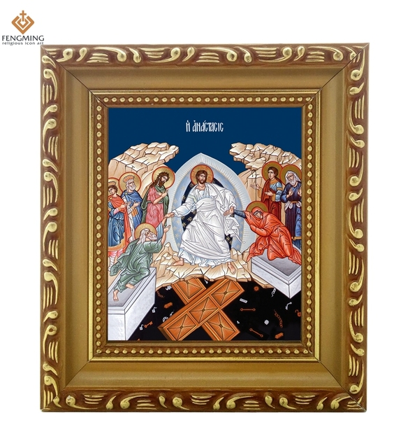 wholesale Photo frame Orthodox Church supplies Descent into hades ...