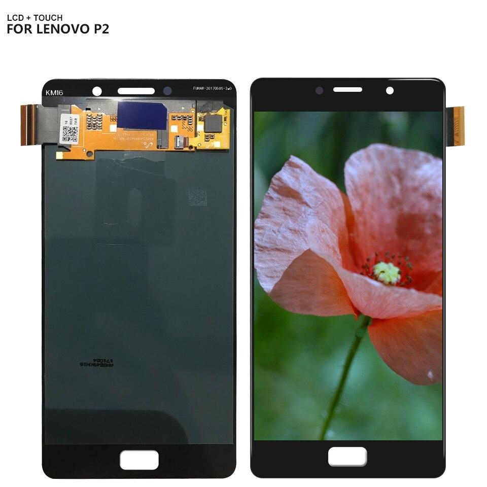 5.5 Pour Lenovo Vibe P2 P2c72 P2a42 Assemblée D'affichage D'affichage à CRISTAUX LIQUIDES De convertisseur analogique-numérique d'écran tactile 2 Couleur Livraison Gratuite