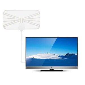 Image 3 - 25dBi 4K 1080P Indoor HD Digital TV Antenna DVB T VHF UHF ATSC Signal Receiver TV Aerial 50miles HDTV Transparent Antena