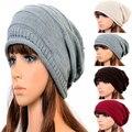 2017 зима женщины шапочка Skullies мужская Хип-Хоп шапки вязаная шапка, мешковатые крючком cap, шапки homme femme en laine, gorros ланы
