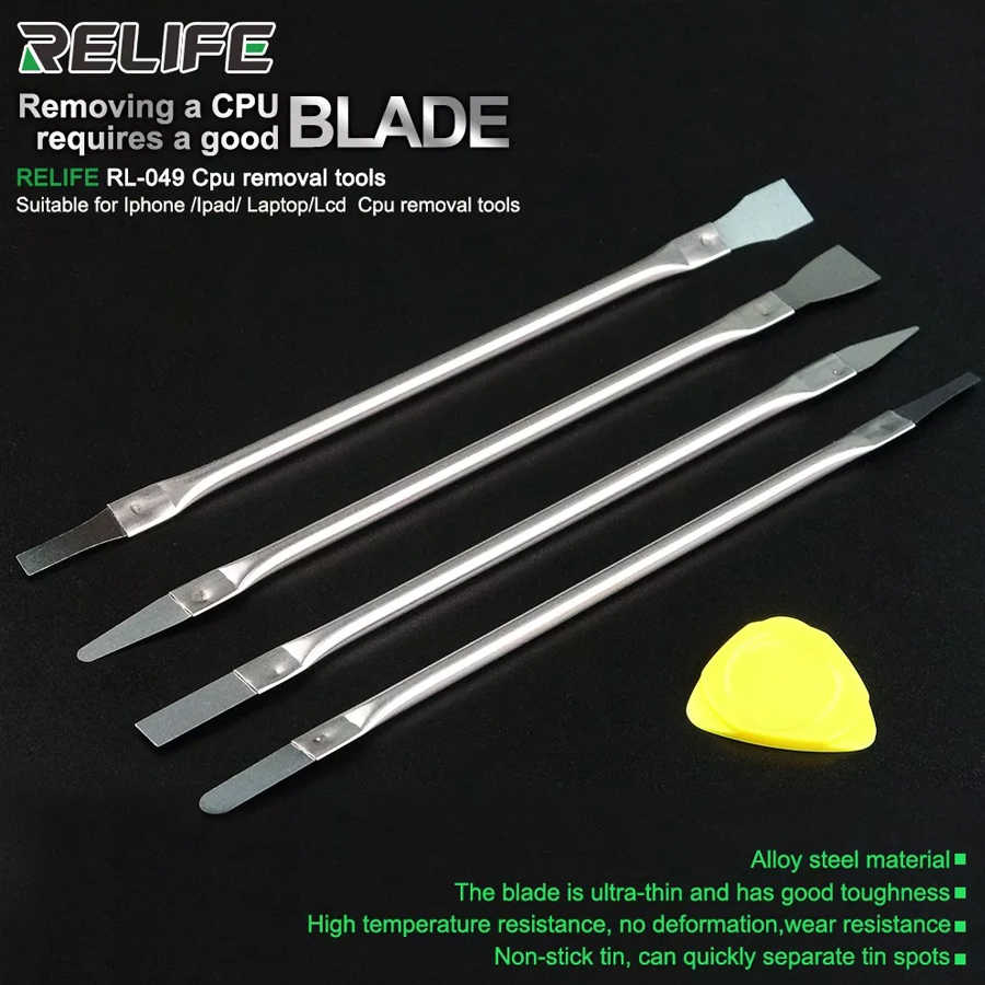 RELIFE RL-049 האחרון דבק הסרת סכין מעבד פירוק הפרדת דבק 4in1 הסרת כלי עבור iPhone iPad מחשב נייד Lcd מעבד ברור