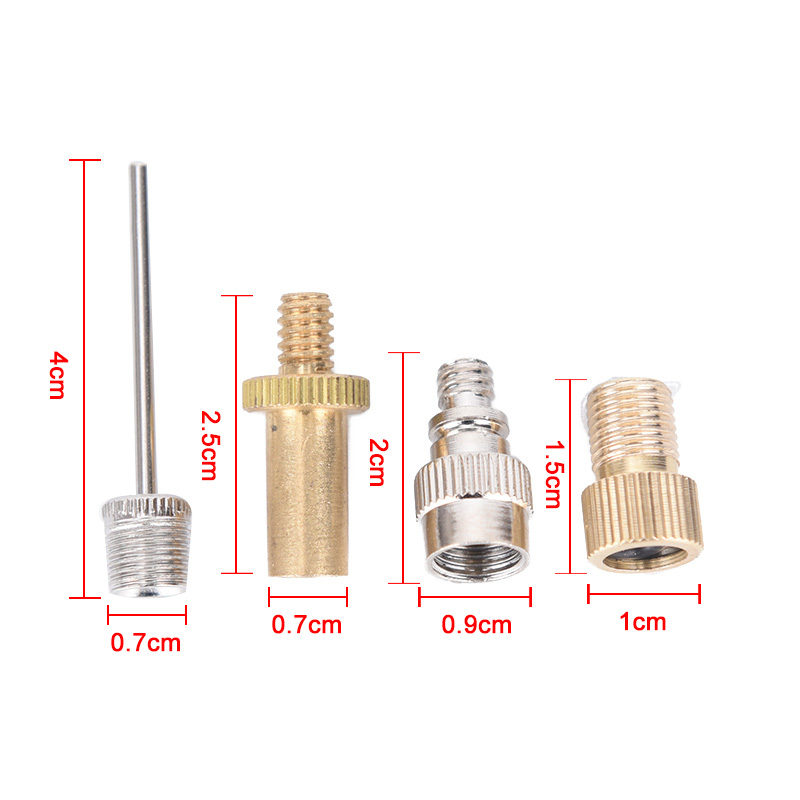 4pcs Bicycle Basketball Needle Pump Schrader Presta Tube Bike Tire Valve-Adapter