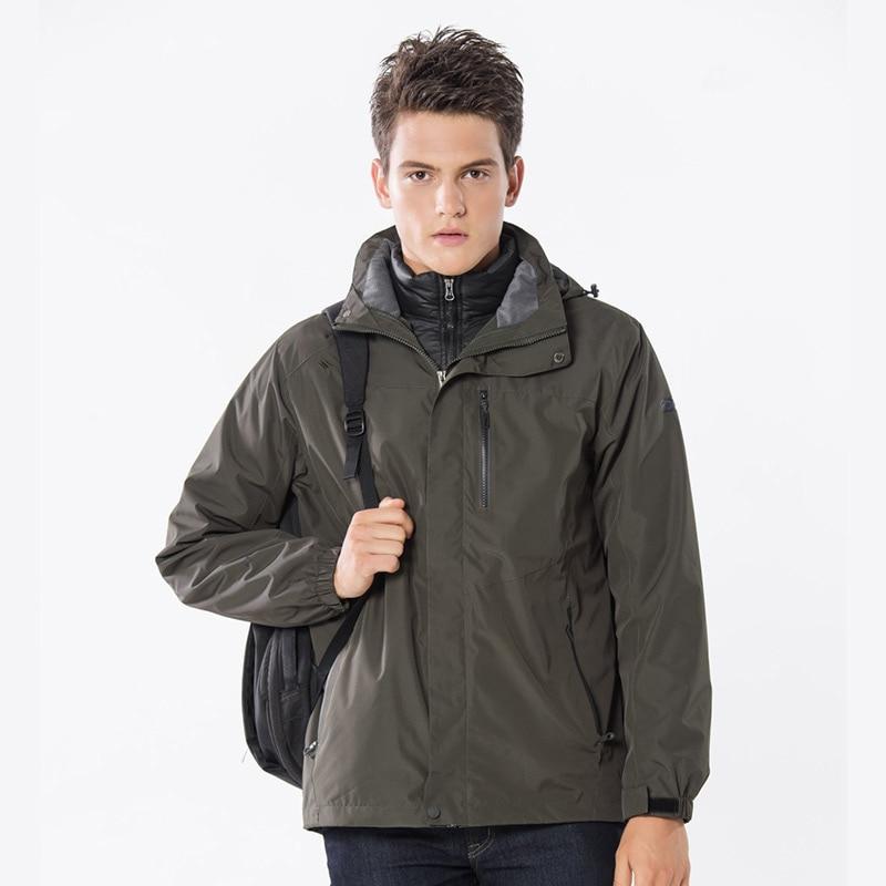 Hommes femmes hiver duvet de canard Softshell veste Sports de plein air Tectop manteaux alpinisme ski Trekking mâle femme vestes 4XL
