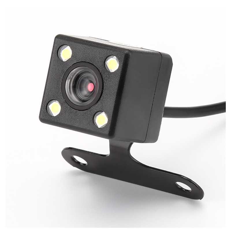 Camera Lùi Camera Phía Sau Ẩn Ngược Máy Ảnh Cho DVR Xe Ô Tô Gương Đầu Ghi 4 Tầm Nhìn Ban Đêm LED HD CDD ống Kính 2.5 Mm