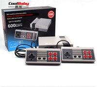100 шт./лот мини игровой консоли Ретро ТВ портативной игровой консоли игры игрок Built-in600 различных игр PAL и NTSC двойной геймпад