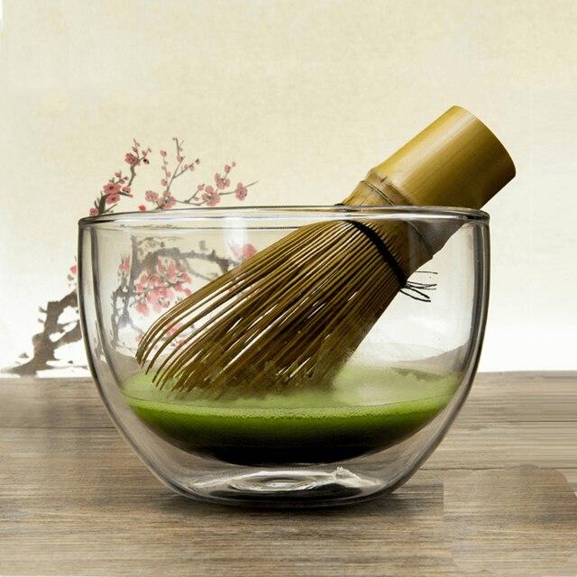 일본 말차 차 세트 내열 유리 말차 녹차 그릇 말차 의식 차완 컵 일본 식기 Giftset 도매-에서티웨어 세트부터 홈 & 가든 의