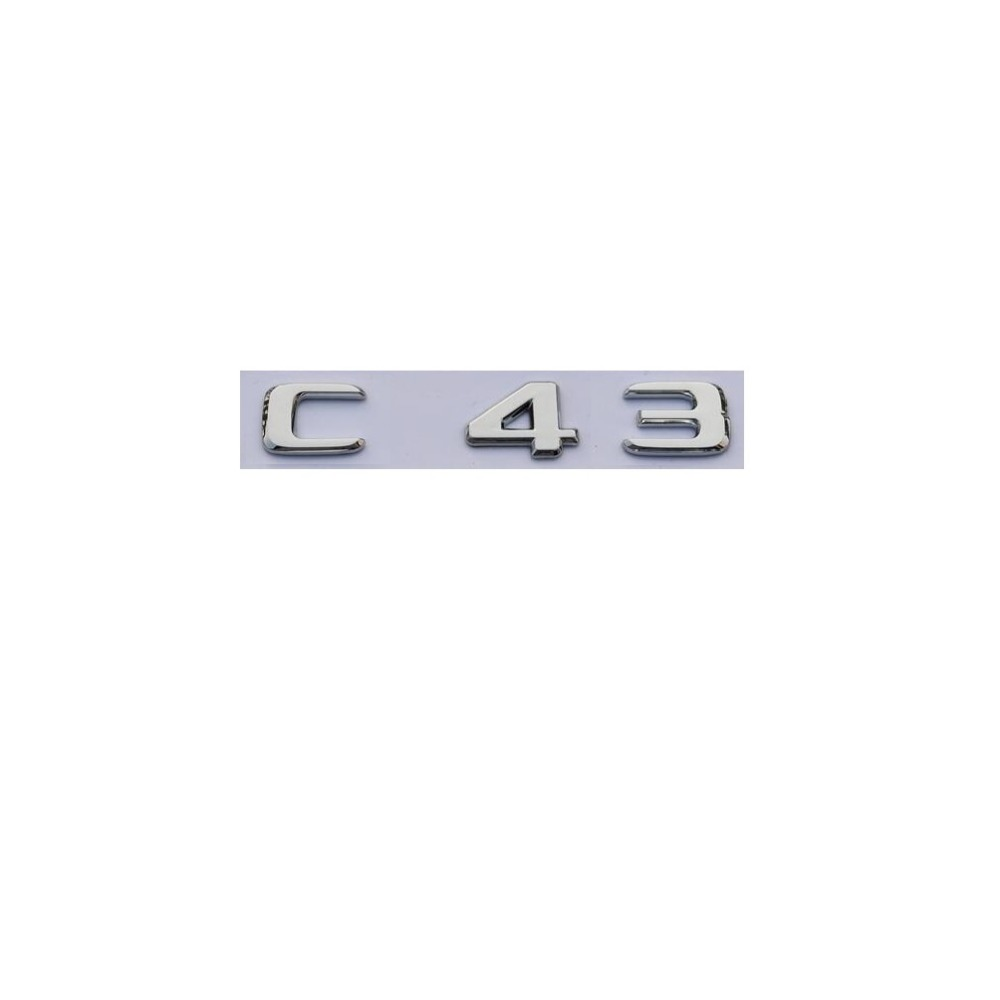 ABS Rear Trunk AMG Logo 3D Emblem Badge Sticker for Mercedes-Benz E63 C43
