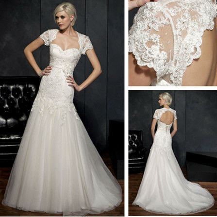 Cap Sleeve Lace Wedding Dress Patterns White Casual Dressbridal Gown