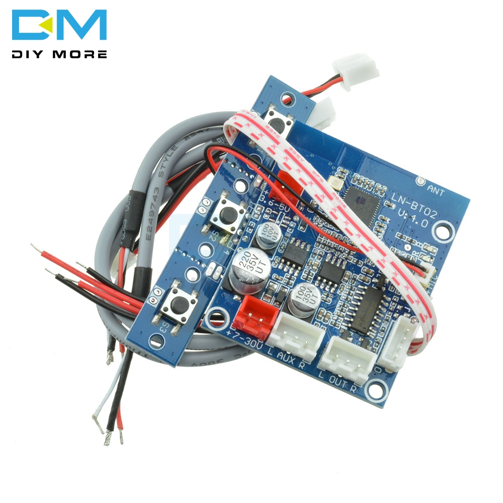 1Set <font><b>Car</b></font> Bluetooth 3.0 4.0 Wireless <font><b>Audio</b></font> Receiver Board Stereo Sound Module Support Bluetooth <font><b>Amplifier</b></font> Speakers <font><b>Diy</b></font> Kit image