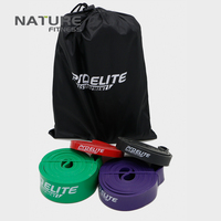 Set Of 4 Color Latex Strength Resistance Bands Fitness Crossfit Power Lifting Pull Up Strengthen Muscle
