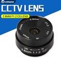 2.8mm 120 grados cctv lente de la cámara manual monofocal iris cs monte cctv lente ip soporte de cámara analógica