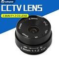2.8mm 120 graus cctv lente da câmera de montagem cs monofocal lente íris manual cctv ip apoio câmera analógica