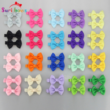 27 pcs/set Color Baby Girls Toddler  Bowknots Solid Dots Boutique Hair Clips Headwear Polyester Ribbon Barrettes Headpins FS006