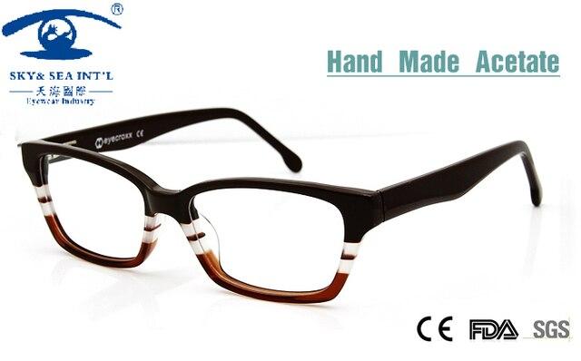 2015 Computer Oculos Double Color Hand Made Acetate Butterfly Eyeglass Frames Customized Prescription Eyewear  Ladies Eyeglasses