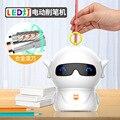 Автоматический Электрический LED СПЛАВ варочная панель тип креативный милый мультфильм инопланетянин точилка для карандашей канцелярские ...