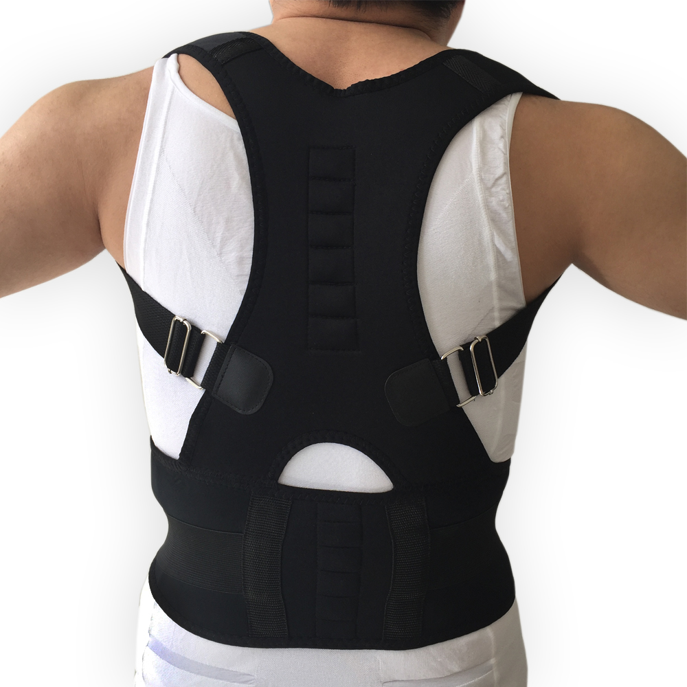 New Women And Men Shoulder Brace Magnetic Therapy Posture Corrector Health Care Adjustable Bandage Support +