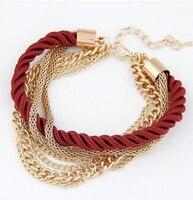 New Fashion Luxury Braided Multilayer Bracelet Alloy Bangle 3Pcs 8