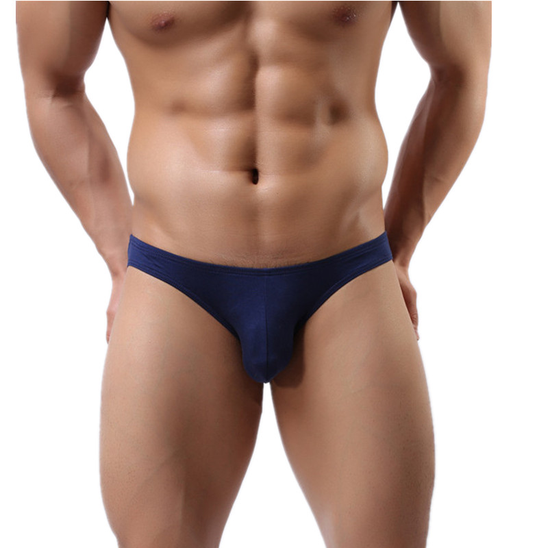 Buy Sexy Mens Underwear Modal Briefs Shorts Soft Bulge Pouch Underpants Slip Homme Plus Size Men's Bikini Briefs 10 Colors Panties